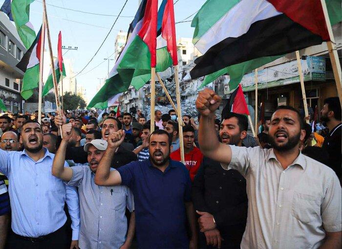 فرجام راهپیمایی پرچم در مناطق اشغالی فلسطین