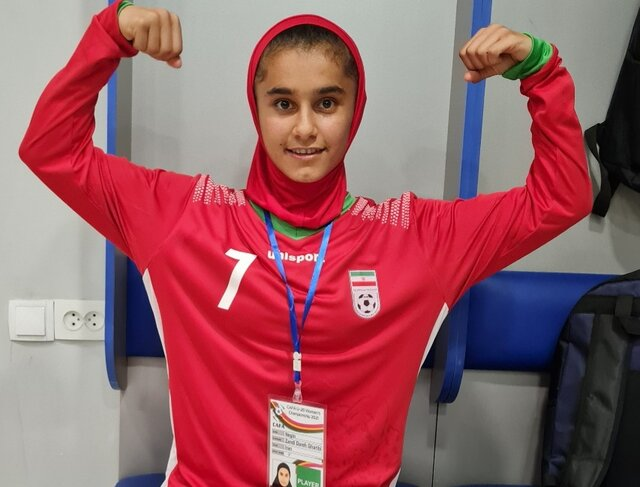دختر فوتبالیست ایرانی که بهترین بازیکن کافا شد