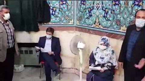 لحظات اخذ رای از عبدالناصر همتی