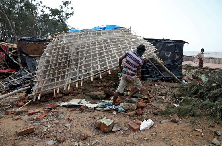 طوفان یاس در هند ۱۵۰ هزار نفر را آواره کرد