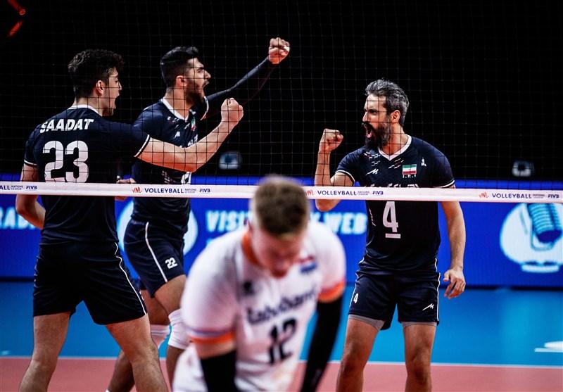 برتری کوبنده والیبال ایران بر هلند با بازگشت معروف