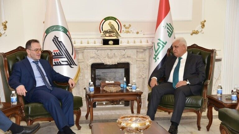 دیدار رییس الحشد الشعبی و سفیر روسیه در بغداد