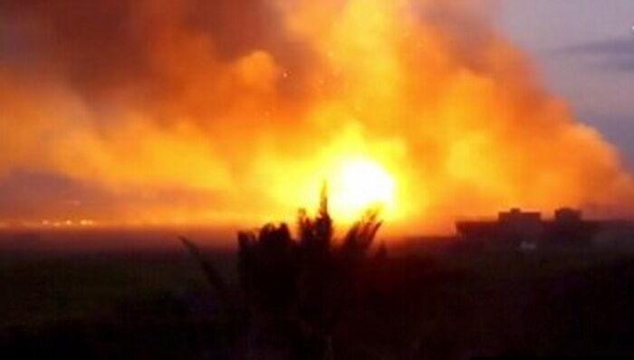 انفجار در پایگاه نظامی آمریکایی در سوریه