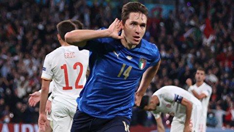 خلاصه بازی تیمهای فوتبال اسپانیا - ایتالیا