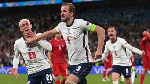 خلاصه بازی تیمهای فوتبال انگلیس - دانمارک