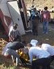 واژگونی مرگبار اتوبوس خبرنگاران در نقده/ کوچ ابدی دو خبرنگار و مصدومیت شدید برخی دیگر/ انتقال مصدومان با بالگرد و اتوبوس آمبولانس به ارومیه