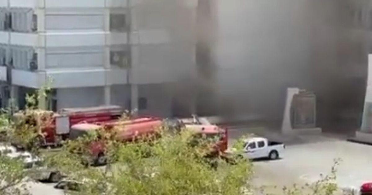ساختمان وزارت بهداشت عراق آتش گرفت