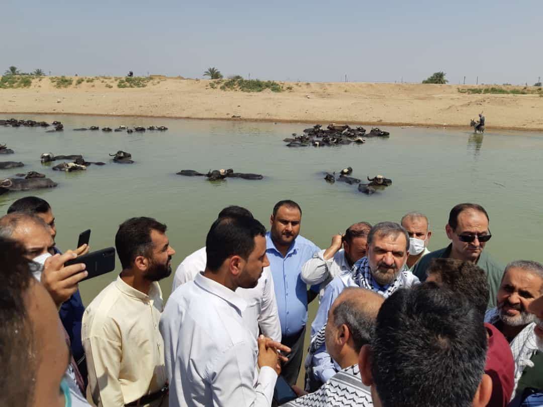 حضور میدانی محسن رضایی ذر هویزه خوزستان+عکس