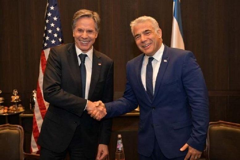 بلینکن با نفر دوم کابینه جدید رژیم اسرائیل دیدار میکند