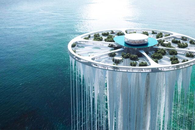 طراحی برج آسمانی معلق در چین