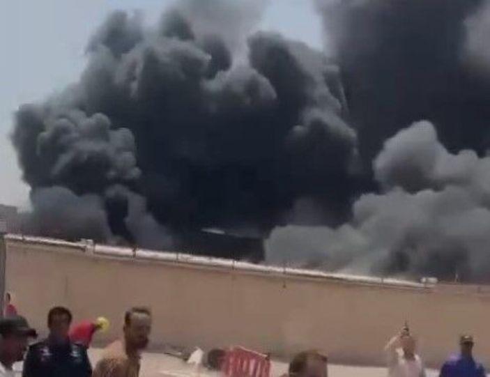 آتش سوزی در شرکت نفت جنوب عراق در بصره