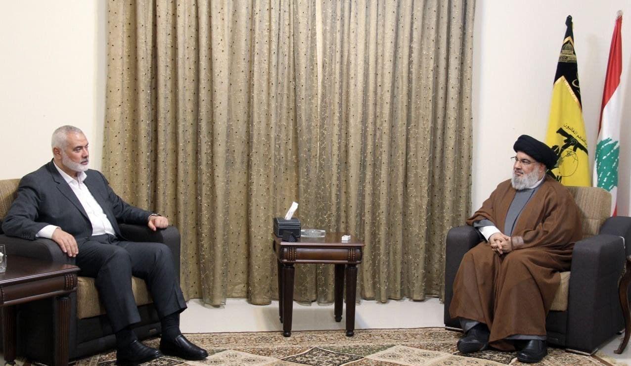 اسماعیل هنیه با سید حسن نصرالله دیدار کرد