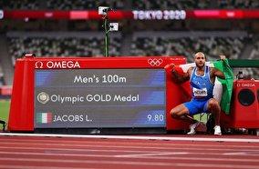 فیلم فینال دوی ۱۰۰متر المپیک توکیو