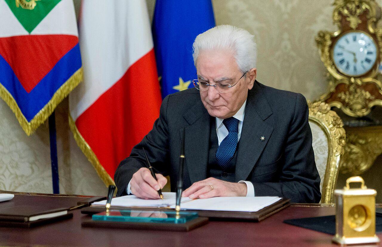 پیام رئیس جمهوری ایتالیا به رئیسی