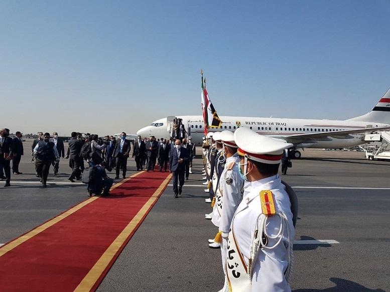 ورود رئیس جمهور عراق به تهران
