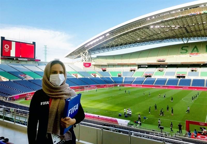 یک زن ایرانی ناظر فینال فوتبال المپیک توکیو شد