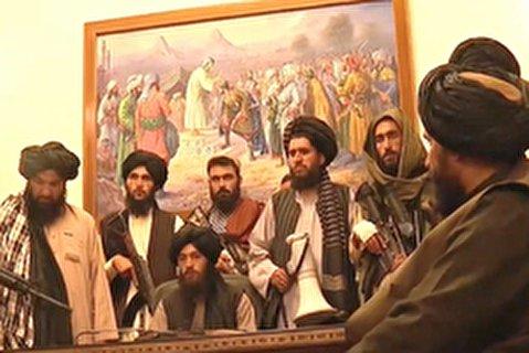 طالبان در کاخ ریاست جمهوری افغانستان