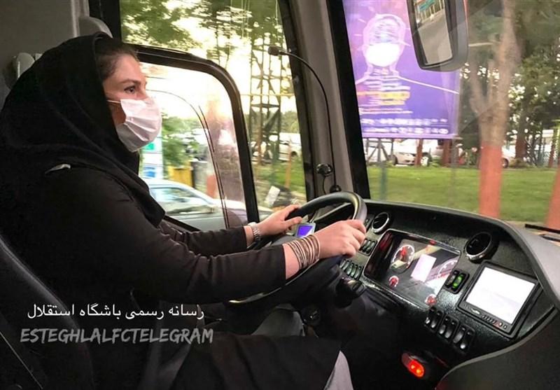 راننده زن اتوبوس استقلال در سفر به قائمشهر