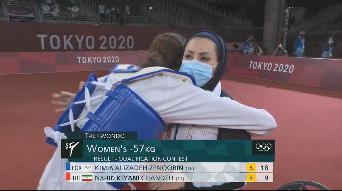 اشکهای کیمیا در آغوش کیانی بعداز شکست هموطن در المپیک