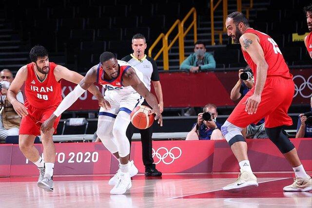 شکست المپیکی بسکتبال ایران مقابل غولهای آمریکا با ۵۴اختلاف