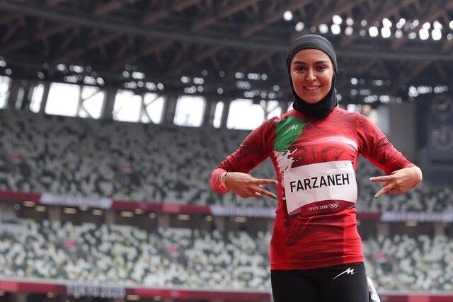 فرزانه فصیحی دونده زن ایرانی در المپیک پنجاهم شد