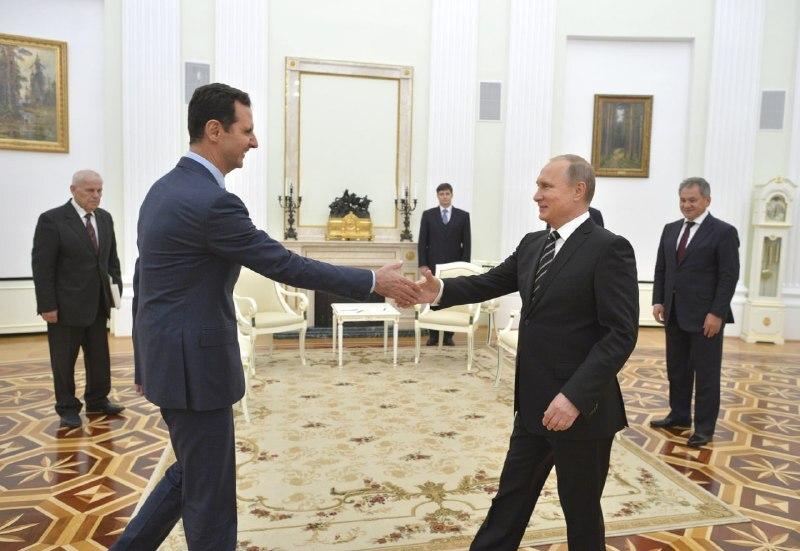 دیدار بشار اسد با پوتين در کاخ کرملین