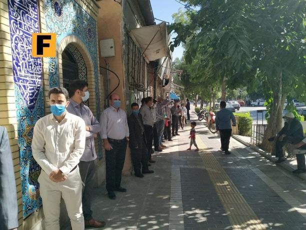 خراسان شمالی -  صف مردم برای رایدادن