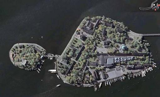 جزیره Skeppsholmen در اطراف استکهلم در سوئد
