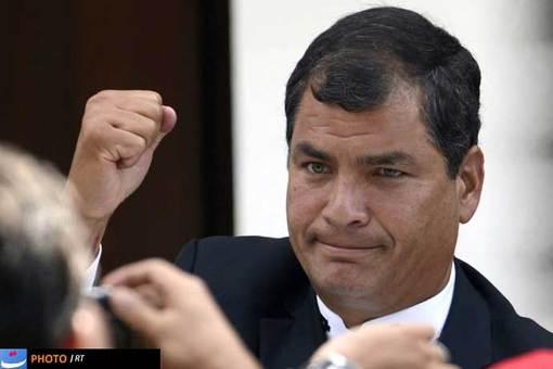 رافائل کوره آ، رئیس جمهور اکوادور از دیگر مهمان های این مراسم بود.