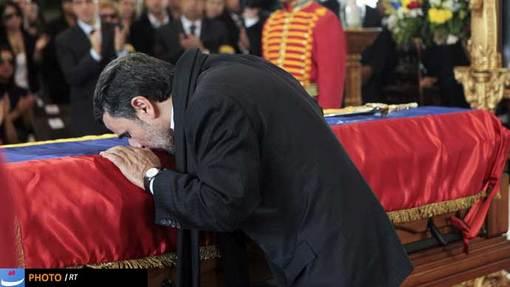 محمود احمدی نژاد رئیس جمهور کشورمان از دیگر حاضران این مراسم بود.