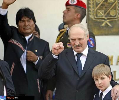 اکساندر لوکاشنکو رئیس جمهور بلاروس از حاضران مراسم خاکسپاری چاوز بود.