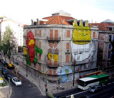 این ابر گرافیتی در اسپانیا، فارغ از خلاقیتی که در بر گرفته، میتواند بهترین پوششی باشد که برای محو کردن یک ساختمان متروکه به آن نیاز داریم.
