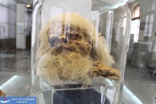 جمجمه مرد نمکی - مربوط به دوران اشکانی یا ساسانی حدود 1700 سال پیش -