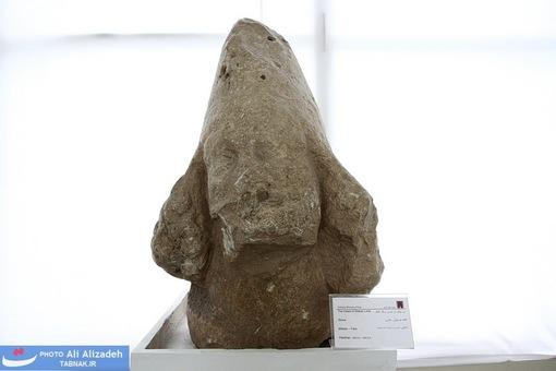 سر پیکره از جنس سنگ آهک-فارس اشکانی - 250 قبل از میلاد