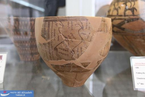 کاسه سفالی -چشمه علی-هزاره پنجم پیش از میلاد