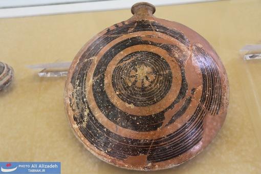 قمقمه سفالی - شوش- خوزستان-هزاره دوم پیش از میلاد