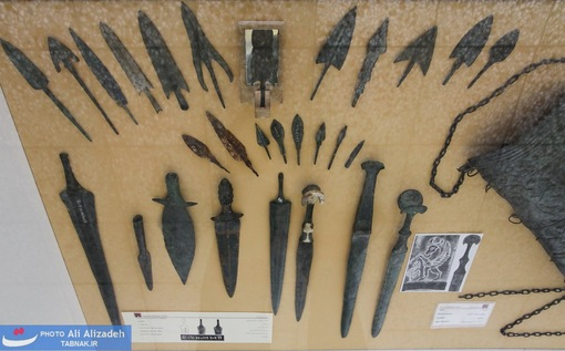 انواع سرپیکان و خنجر مفرغی - لرستان -هزاره نخست پیش از میلاد