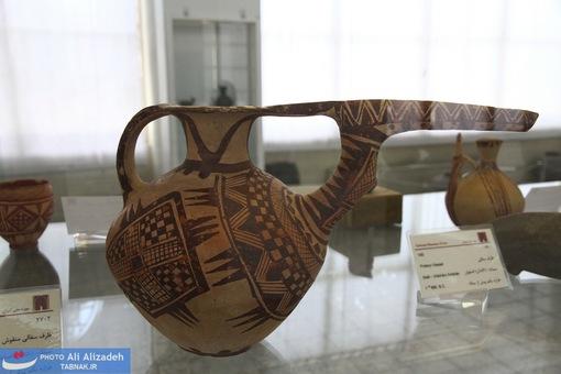 ظرف سفالی منقوش -سیلک کاشان -هزاره یکم پیش از میلاد