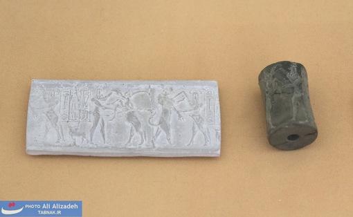 مهر سنگی تخت -شوش-واسط هزاره چهارم پیش از میلاد