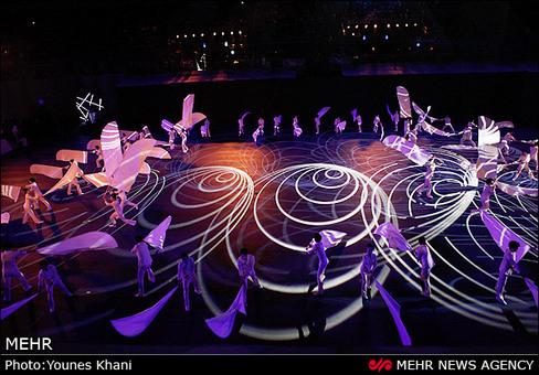 مراسم افتتاحیه چهارمین دوره بازیهای داخل سالن آسیا