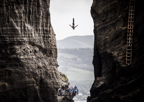 سقوط آزاد در دره پونتا دلگادا، پرتغال