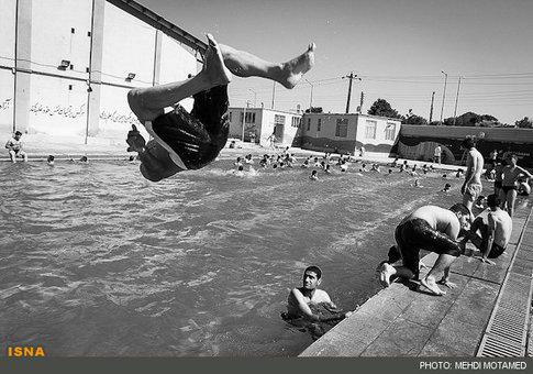 شنا در گرمای تابستان – قزوین