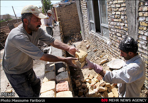 بازسازی مناطق زلزله زده ارسباران