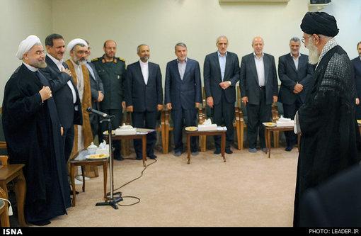 اولین دیدار رییسجمهور و کابینه دولت یازدهم با مقام معظم رهبری صبح امروز انجام شد