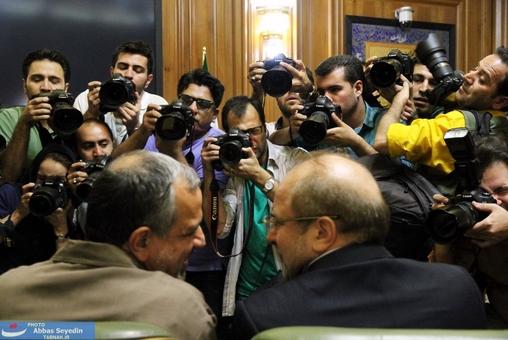 عطش عکاسان برای ثبت تصویر آقای شهردار تهران