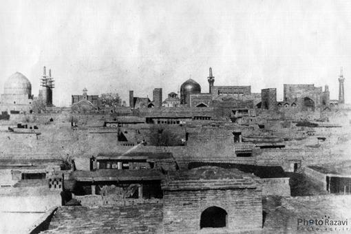 دورنماي حرم امام رضا(ع) سال 1275قمري