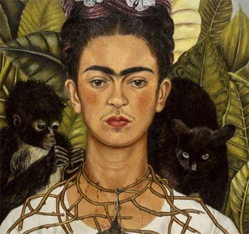 فریدا کالو نقاش سورئالیست مکزیکی که پرتره های معروف وی از ابراز درد و عواطفش شهره جهانی دارد