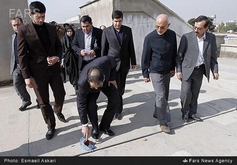 بازدید سیدحسن هاشمی وزیر بهداشت از بیمارستان ولیعصر