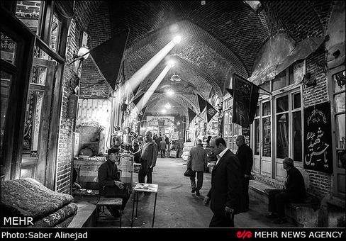 حال و هوای محرم در بازار تبریز