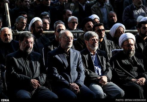 مقامات شرکت کننده در تشییع پیکر مرحوم عسگراولادی